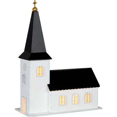 Decoratiune luminoasa biserica din lemn CHURCHILL 650-00, 4X0.064W