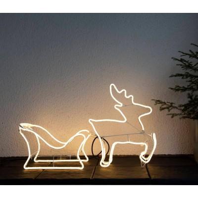 Decoratiune luminoasa sanie cu reni NEOLED 807-42, 720X0.198W